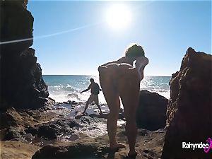 Rahyndee James public beach plumbing pov