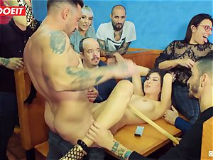 LETSDOEIT - warm nubile tantalized and romped At domination & submission party