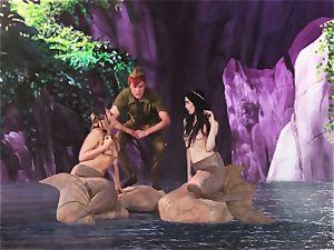 steamy mermaid three-way with Aiden Ashley and Mia Malkova