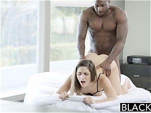 BLACKED massive donk girl Abella Danger worships meaty dark-hued hard-on