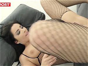 LETSDOEIT - brunette Minge Gets anal smashed rock hard By Mike