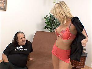 Bridgett Lee vag licked by Ron Jeremy
