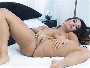 Eva Lovia frolicking with her sensitized raw cunt