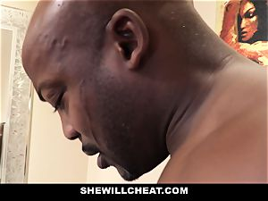 SheWillCheat - cuckold wife boinks big black cock in douche