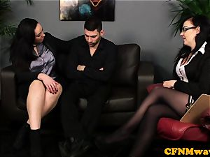 Bigtitted CFNM euro boob banging patients hard-on