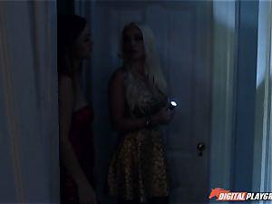 Karlie Montana and Stevie Shae haunted porking