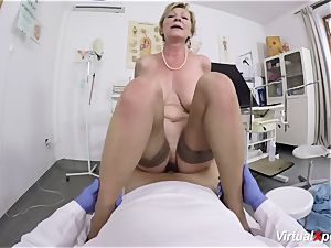 buxomy grandma gets pov plumbed by her physician
