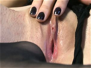 marvelous stunner Sasha Grey gets her rosy poon romped hard by her fucktoy till she spunks