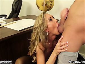 youthfull guy drill his huge-boobed adult educator during a lesson