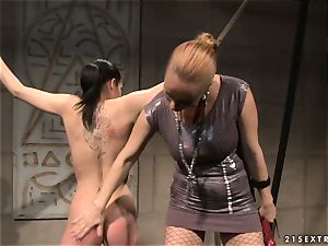 Katy Borman steaming babe got trussed with a insatiable breezy