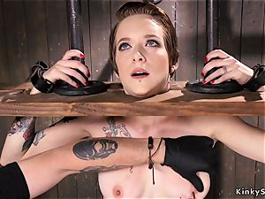 honey with head in stock gets caned
