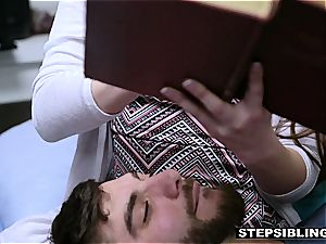 super-hot orgy with a nasty ginger-haired stepsister