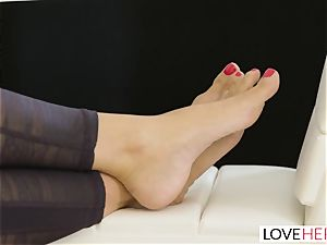 LoveHerFeet - Stepson pulverizes His Stepmom On The couch