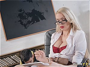 naughty Jordi pulverized by milf lecturer