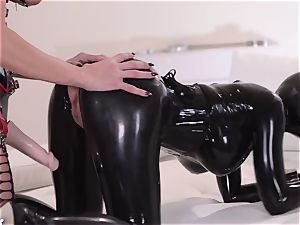 rigorous housewife with gigantic chisel penetrates her servant spandex Lucy