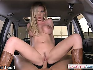 huge-chested housewife Nikki Benz take manmeat in pov