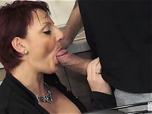 casting ALLA ITALIANA - Mature bbw red-haired audition smash