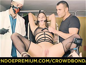 CROWD restrain bondage servant Amirah Adara very first time domination & submission