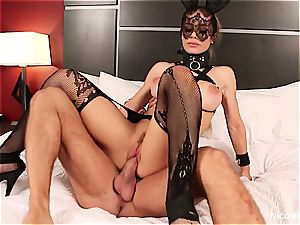 huge-titted platinum-blonde Nicole is predominated