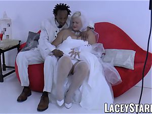 LACEYSTARR - grandma bride fed with jism after pounding