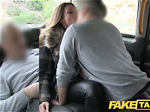 fake taxi adorable looking ash-blonde rims and drills