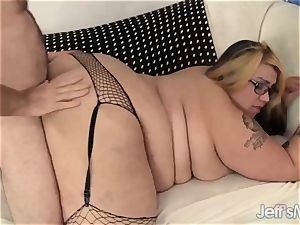obese n rough bbw Mia Riley inhales meatpipe Before Taking a good rock-hard pummeling