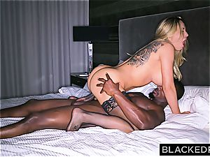 gigantic breasted stupid housewife gets slain by a massive dark-hued dong