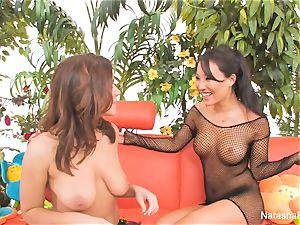 Natasha Nice's first anal practice with Asa Akira