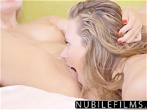 NubileFilms - Playful Coeds heavy lesbian 3some