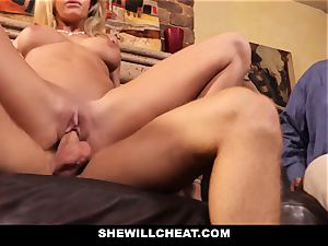 cuckold husband watches Wifes cootchie Get demolished