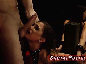 bondage & discipline gimp ass fucking gangbang two young bi-otches, Sydney Cole and Olivia Lua, our down south