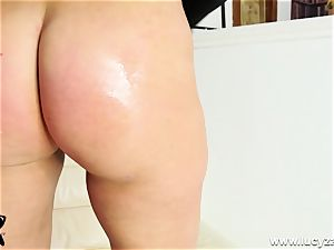blonde mummy Lucy Zara gets bare for JOI fuck stick plowing