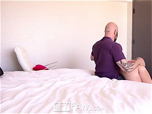 SpyFam Step parent blows a load into step daughter-in-law Bailey Brooke