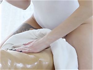 RELAXXXED - sensual oily fuck-fest with steaming Russian stunner