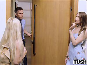 TUSHY 2 college schoolgirls Gape For Their schoolteacher