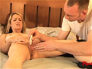 Real duo all-natural fuckfest wifey orgasms and creampie