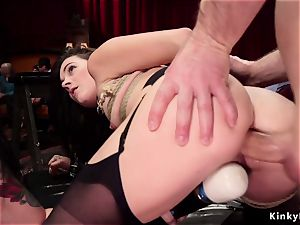 dual whip and anal invasion tear up at swingers party