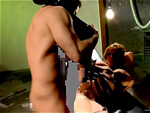 Shyla Stylez takes this firm beef whistle deep in her tight arse