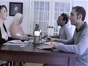AGEDLOVE grandmother plump Lacey Starr encountered her friends