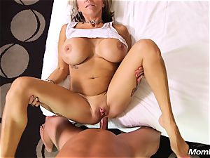 large boobs milf gets buttfuck pulverize and facial cumshot