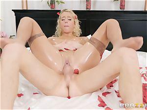 Romantic oily bang with Athena Palomino