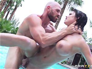 busty Peta Jensen - muddy fucky-fucky by the pool
