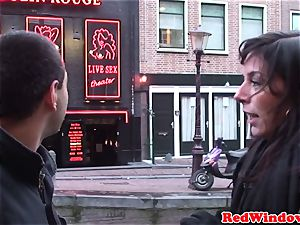 Amsterday prostitutes in 3some activity with successful tourist