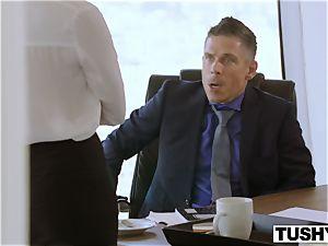 TUSHY Bree Daniels very first ass-fuck hump sequence