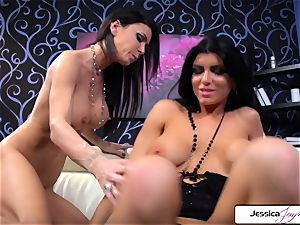 Jessica Jaymes luvs to nail Romi Rain mouth-watering puss