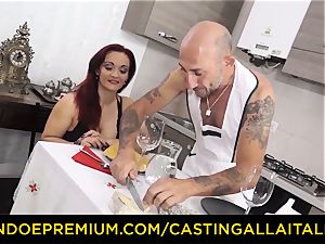 audition ALLA ITALIANA - huge-titted newcummer goes for ass fucking fuck-a-thon