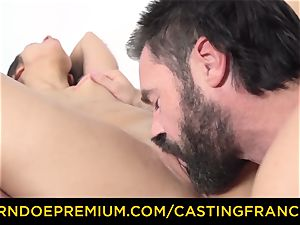 audition FRANCAIS - smallish stunner drilled in very first audition
