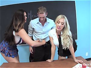 two nasty students have fun with their instructor