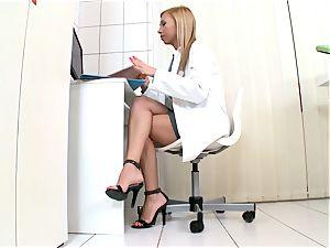 Jessy chocolate-colored insatiable nurse