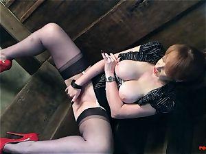 naughty british mature crimson thumbs her wet snatch
